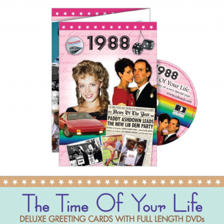 1980 to 1989  The time of your life DVD Greeting Card.